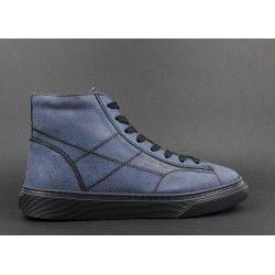 Hogan   Sneakers Uomo H365 Hi Top Nabuk Effetto Used Blu Prezzo 300 ... 62b577f4668