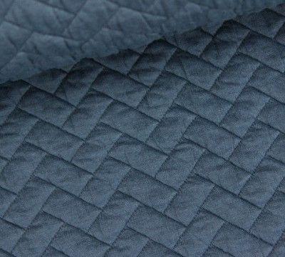 Viskose Stoff Steppstoff Fischgrat Blaugrau Viskose Stoff Stoffe Blau Grau
