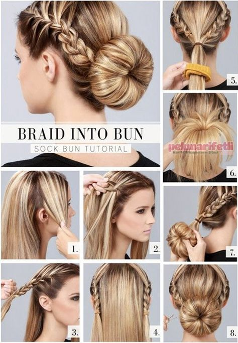 Baliksirti Orgulu Ense Topuzu Hair Bun Tutorial Hair Styles