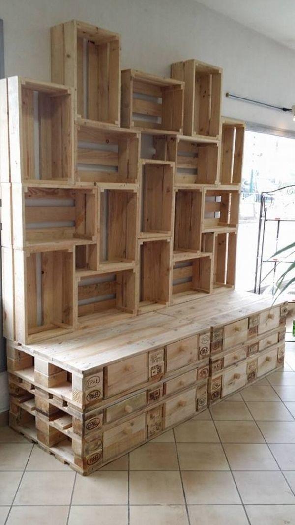 Holzpaletten Ideen für die Holzbearbeitung | Holzpaletten-Ideen von Holzpaletten-Ideen #palletbedroomfurniture