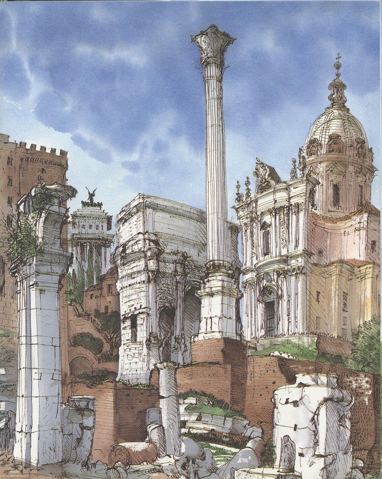 Disegno E Pittura Forum.Urbansketchers The Forum Rome Nel 2019 Schizzi