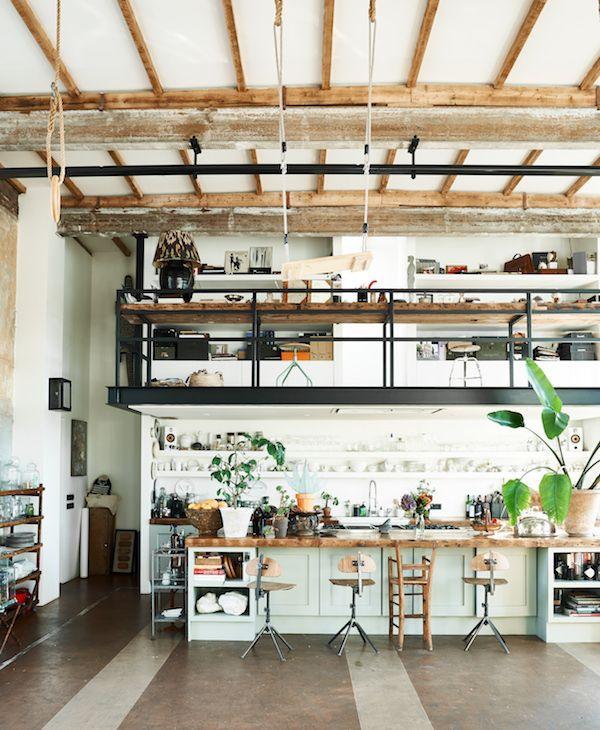 Scandinavian Industrial Design industrial style kitchen from the book urban pioneer: interiors