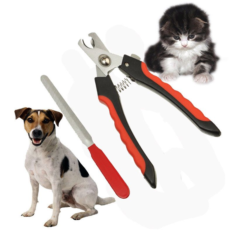 Stainless Steel Pet Dog Cat Nail Toe Trimmer Clipper Grooming Tool Safety Cutter Claws Scissor Pet Dogs Pets Dog Diapers