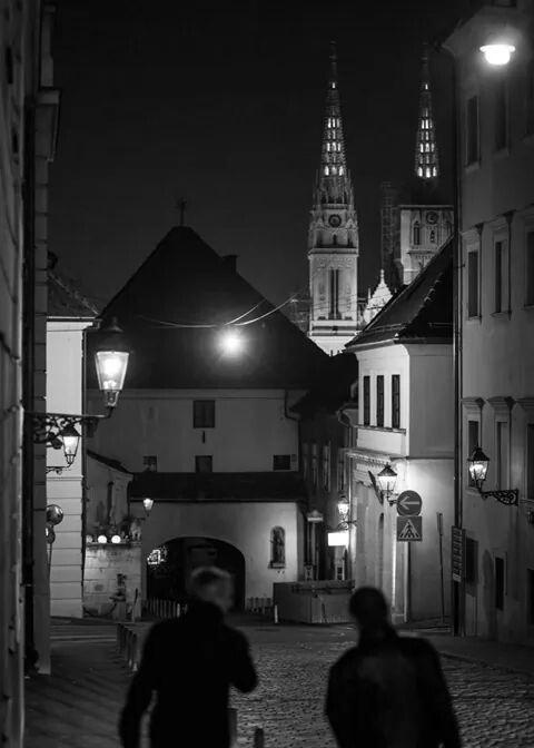 Zagreb Night Zagreb Croatia Zagreb Croatia