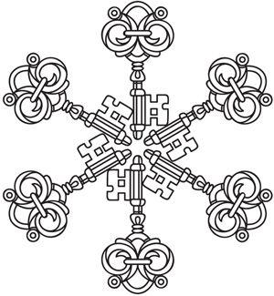 Skeleton Key Snowflake Urban Threads Unique And Awesome
