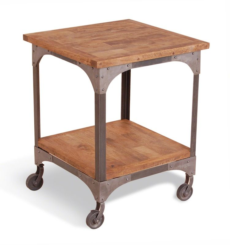 Cool harlem industrial side table on wheels 9123 p 750—800 pixels Fresh - Awesome coffee table with wheels Model