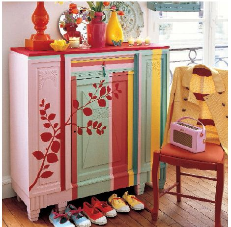 marie claire idees Meubles, Meubles peints et Peindre - peinture pour relooker meuble en bois