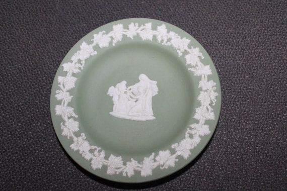 Wedgwood Green Small Plate Rare Color Nice by YourVintageDays
