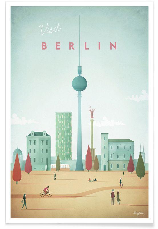 Berlin als premium poster von henry rivers juniqe · poste en ligneaffiches vintageretourtableauxmuralevisuellegraphismegratuittravaux