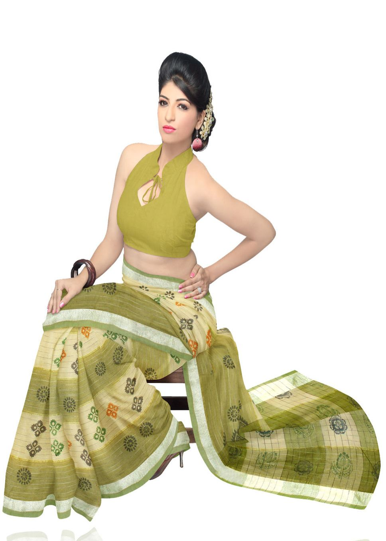 5405d4c6d8 Unnati Silks Floral Print Cotton Sari www.fashionpuram.com/womens-cotton- sarees/