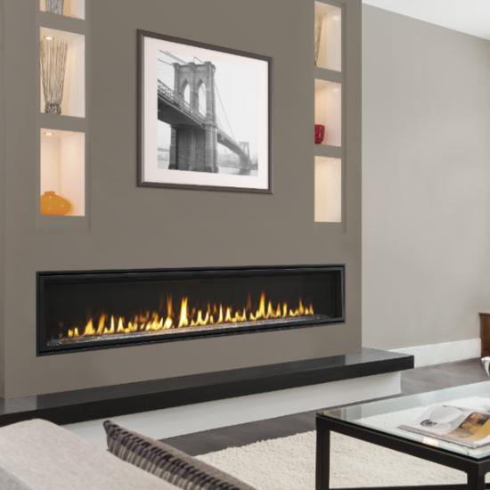 Majestic Echelon Ii 72 Inch Linear Direct Vent Gas Fireplace