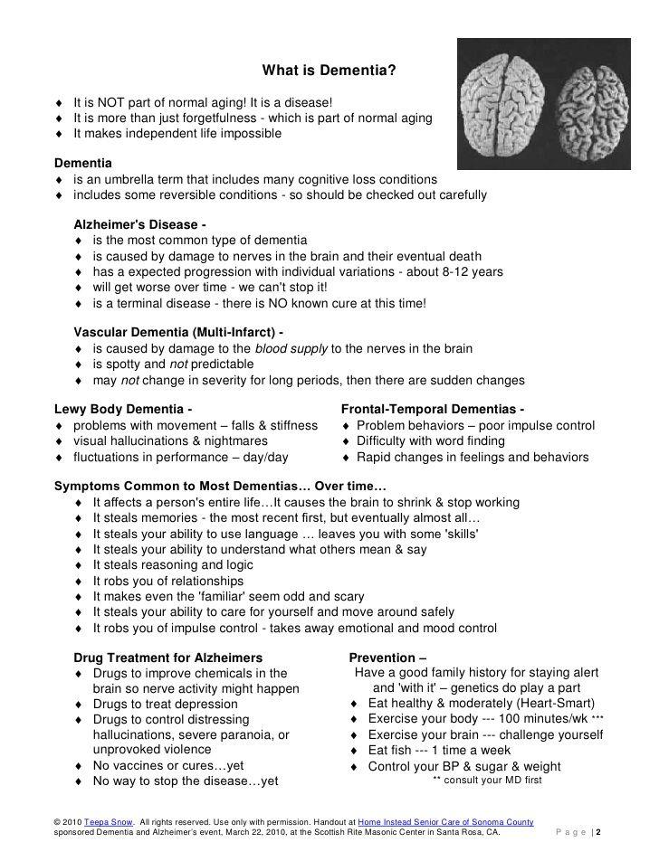 Teepa Snow Dementia Building Skill Handout Dementia