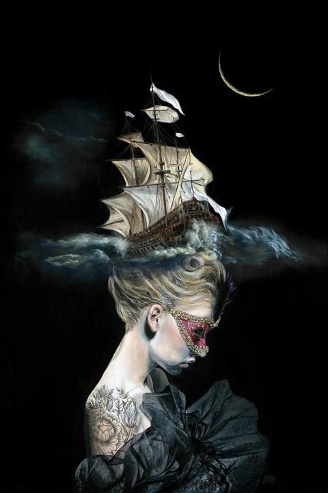 Melissa Hartley pirate ship wig costume marie antoinette