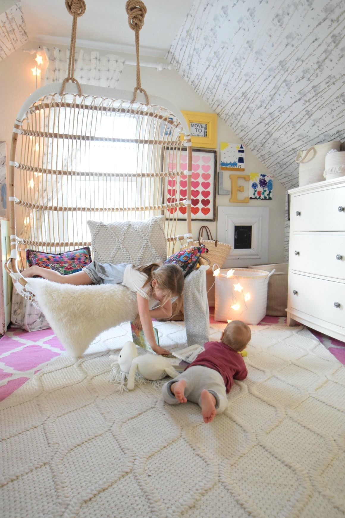 Wedding room decoration ideas 2018  Love in the form of our new Hanging Chair in   Kids rooms