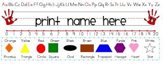 A Day in the Life of a Classroom Teacher Desk Name Tag Template