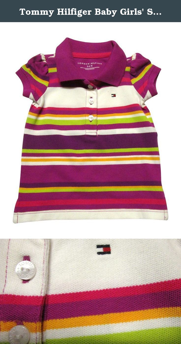 d0cf2be121f Tommy Hilfiger Baby Girls  Striped Capped Sleeve Polo Shirt (6-9 Months