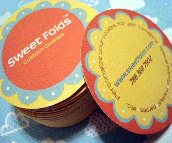 Round shaped sweet folds business card bakery pinterest folded round shaped sweet folds business card colourmoves
