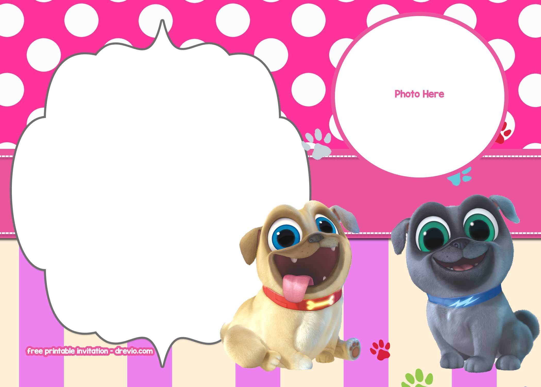 Puppy Dog Pals Invitation Templates