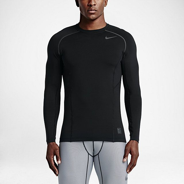 Nike Pro Hyperwarm Fitted Men's Shirt - Shop for women's Shirt - Black/Dark  Grey/Dark Grey Shirt