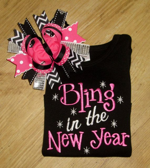 bling in the new year new years eve shirt cute saying new years