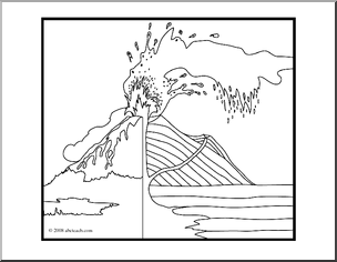 Clip Art Geology Volcano 2 Blank Coloring Page Abcteach Blank Coloring Pages Coloring Pages Geology