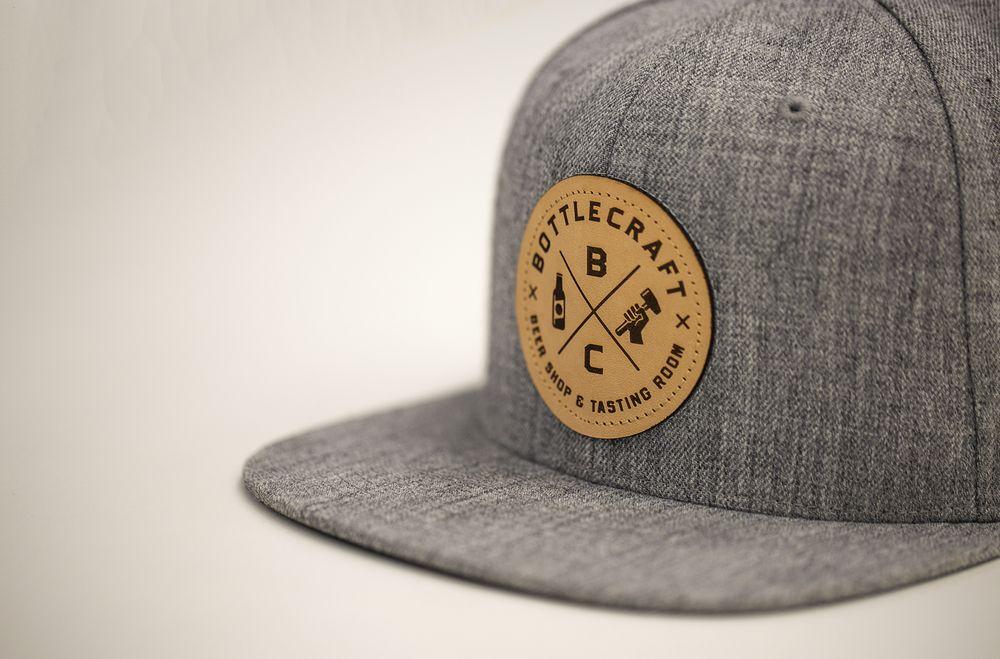 9da9512cd i51 Custom Snapback | Heather Grey | Leather Patch | Hat Ideas in ...