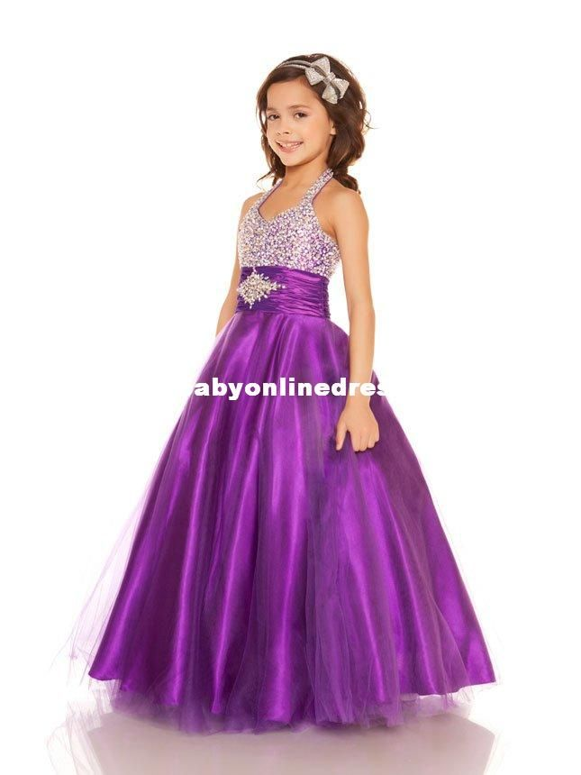 sleek fashion style famous brand purple junior bridesmaid dress for girls | Purple Beautiful ...