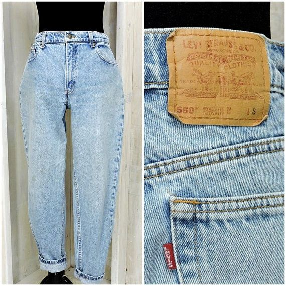 f414e8d3d7e Vintage Levis mom jeans size 9/ 10 / womens Levis 550 relaxed fit jeans 31 X  28 / high waisted tapered leg / high waist peg leg Levis