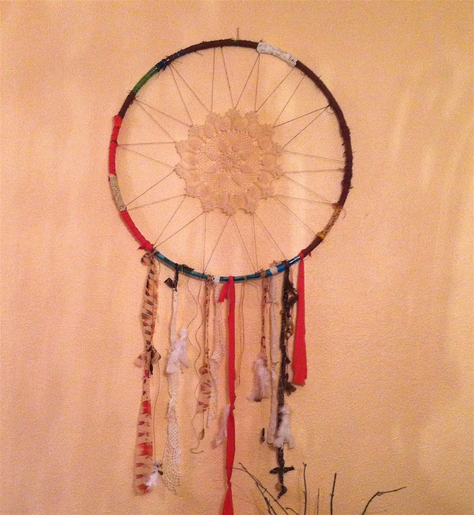 Use a hula hoop for a dream catcher! Weaving loom
