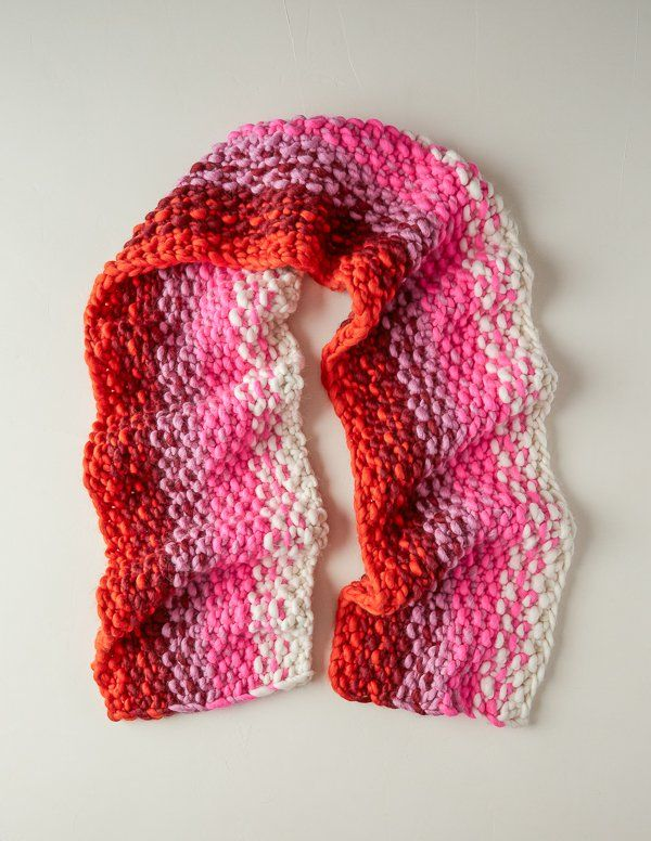 Color Flux Scarf | Purl Soho #Knitting #crafts # ...