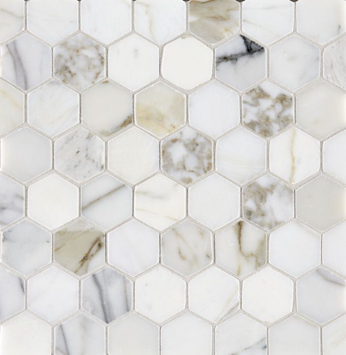 calacatta polished hexagon marble mosaic tiles pinterest. Black Bedroom Furniture Sets. Home Design Ideas