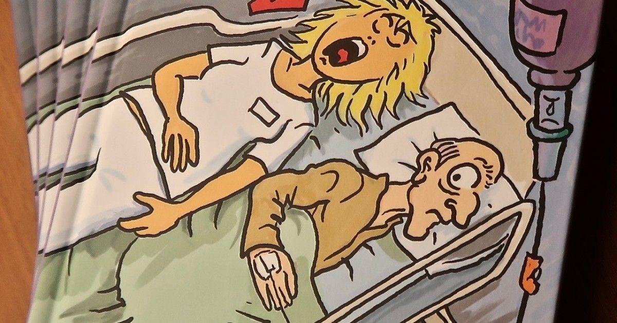 Haluatko Suolaa haavoille? Osallistu pienen sarjakuvakirjan arvontaan 19.1.2017 mennessä Mainio-blogissa! https://www.tehylehti.fi/fi/blogit/mainio/voita-suolaa-haavoille #kilpailu #tehy #hoitotyö #sarjakuva #osallistu