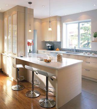 cuisine ouverte bar am ricain tabourets id es pour la maison pinterest cuisine and bar. Black Bedroom Furniture Sets. Home Design Ideas