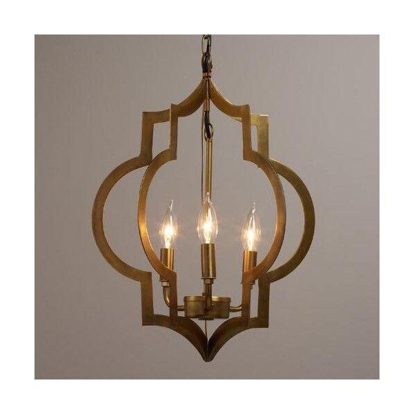 Our Moroccan Inspired Pendant Is Designed For Use With Three Candelabra Bulbs And Features Two Quatrefoil Symbols Finished In Elegant Antique Gold