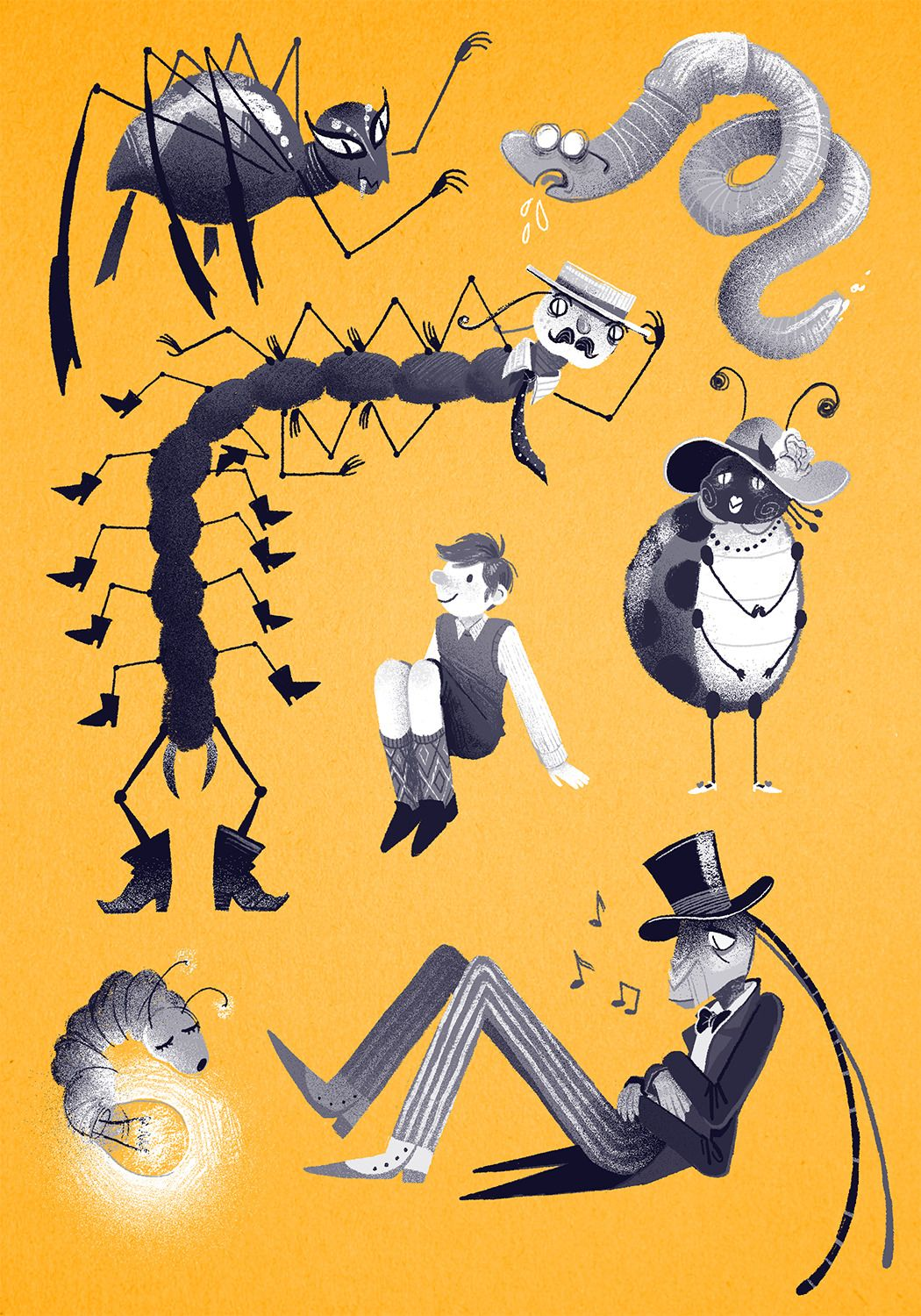 Some Drawings For A James And The Giant Peach Cover I Probably Won T Use