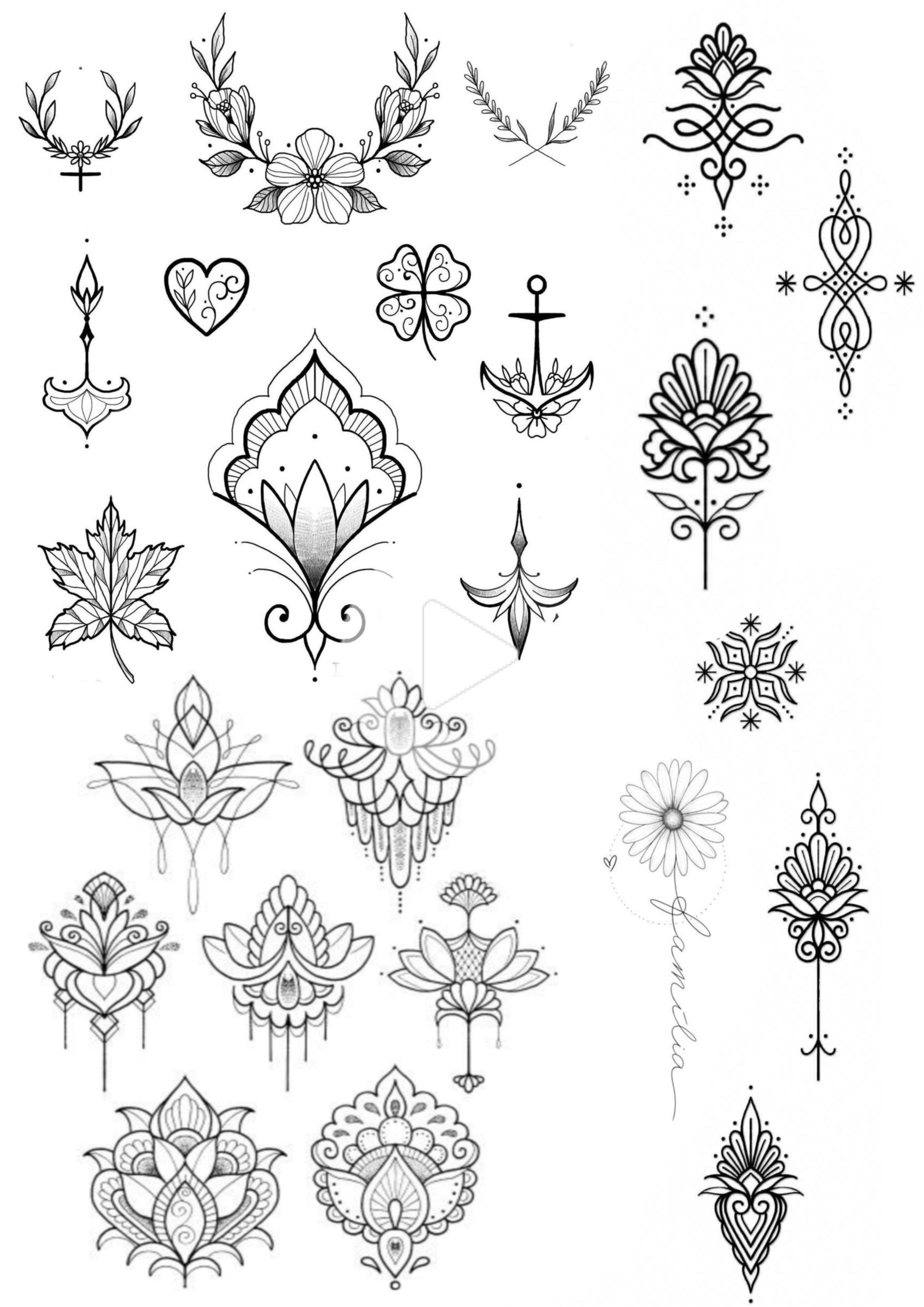 46+ Dessin de tatouage femme ideas