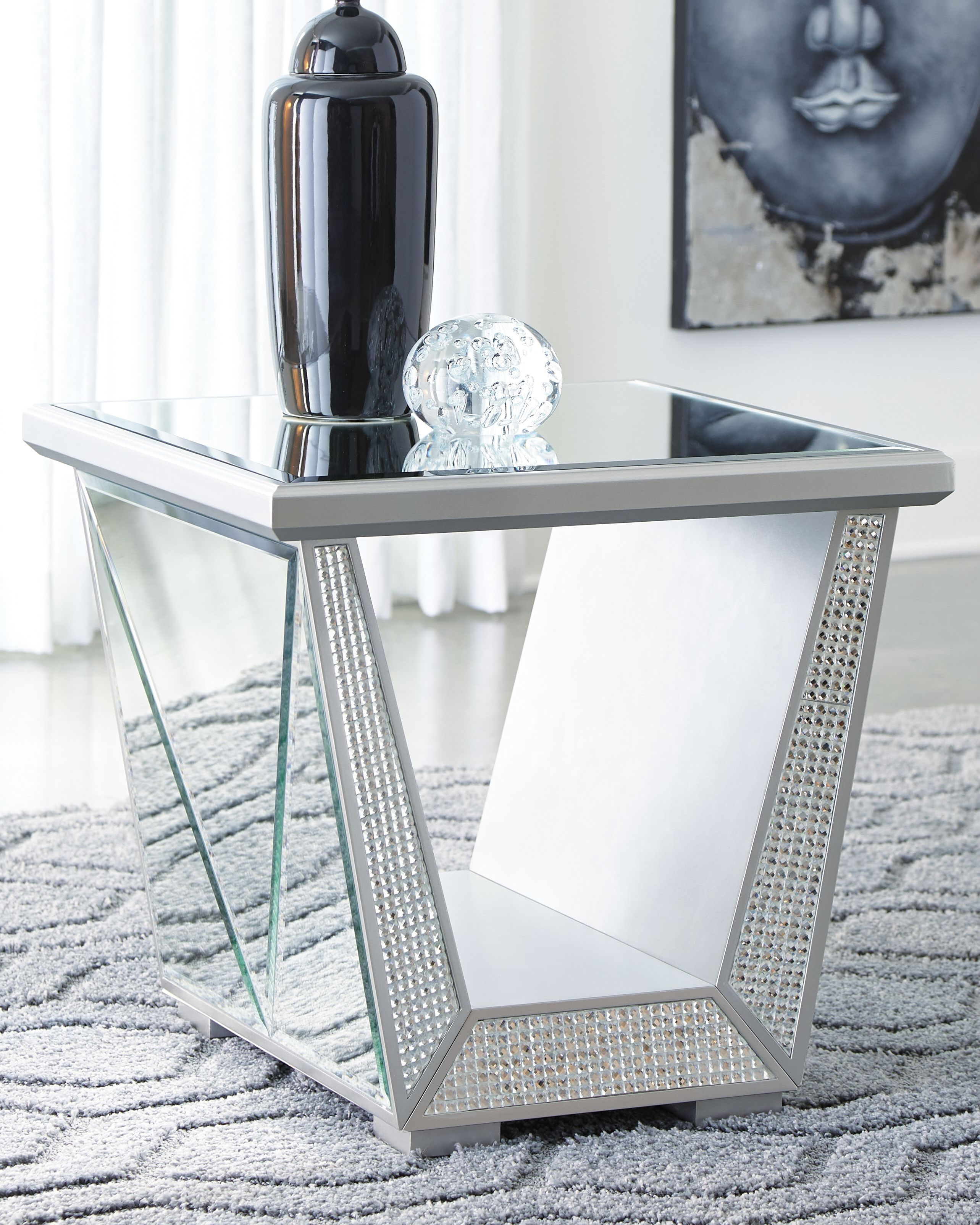 Fanmory End Table Ashley Furniture Homestore In 2021 End Tables Coffee Table End Table Set Mirrored Coffee Tables [ 3208 x 2567 Pixel ]