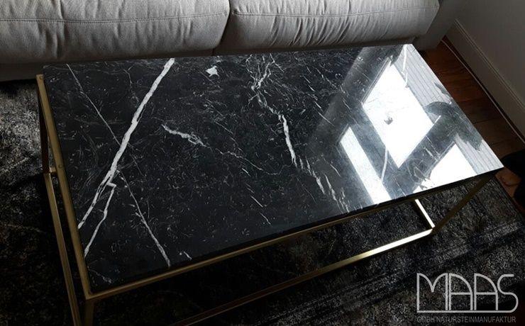 Vintage In Hamburg wurde eine Marmor Tischplatte aus dem Material Nero Marquina in den Ma en