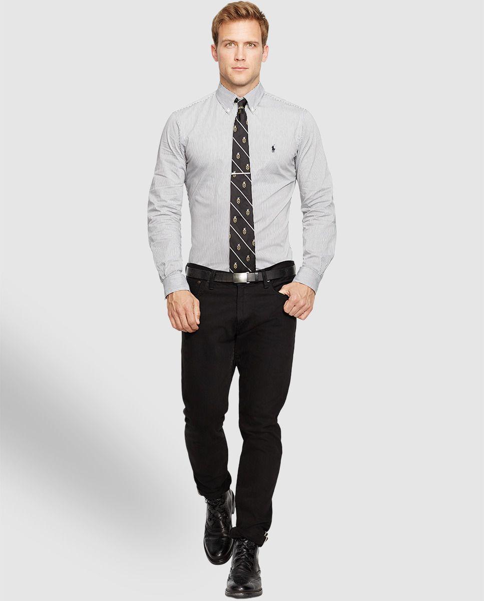 Camisa de hombre de rayas slim gris · Polo Ralph Lauren · Moda · El Corte Inglés