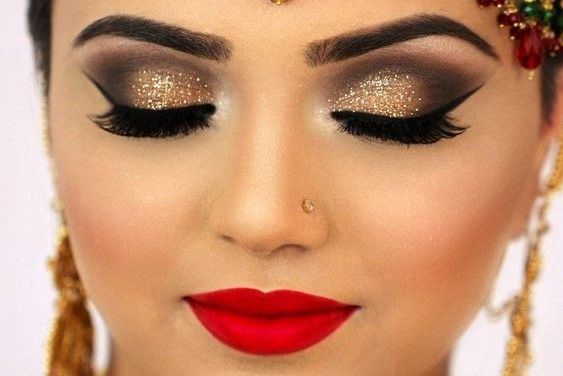 How To Do Red Lips For Indian Skin Bridal Eye Makeup Indian Eye