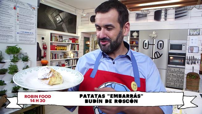 El cocinero de Telecinco te presenta este miércoles dos nuevas recetas que se resuelven 'a toda mecha': patatas 'embarrás' y budín con lo que ha sobrado de roscón de Reyes. Miércoles a las 14.30 horas.