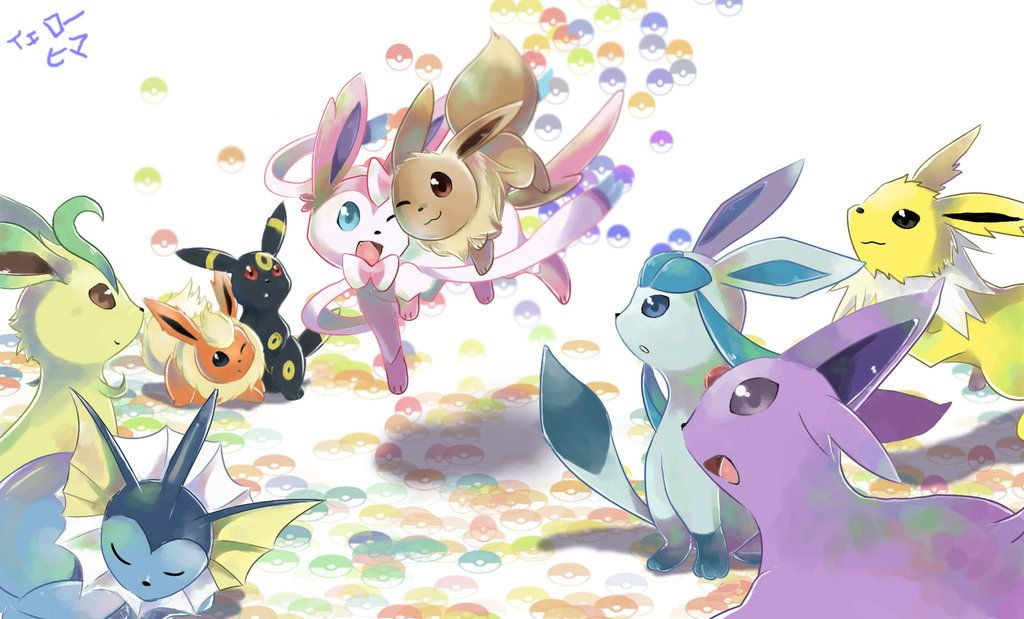 Rainbow Eevee Pokemon Eeveelutions