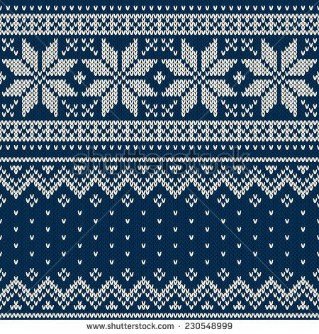 Christmas Sweater Design. Seamless Knitting Pattern | knitting ...