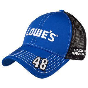 45436885d3258 Jimmie Johnson  48 Lowes Official Hendrick Motorsports Team Cap by Under  Armour