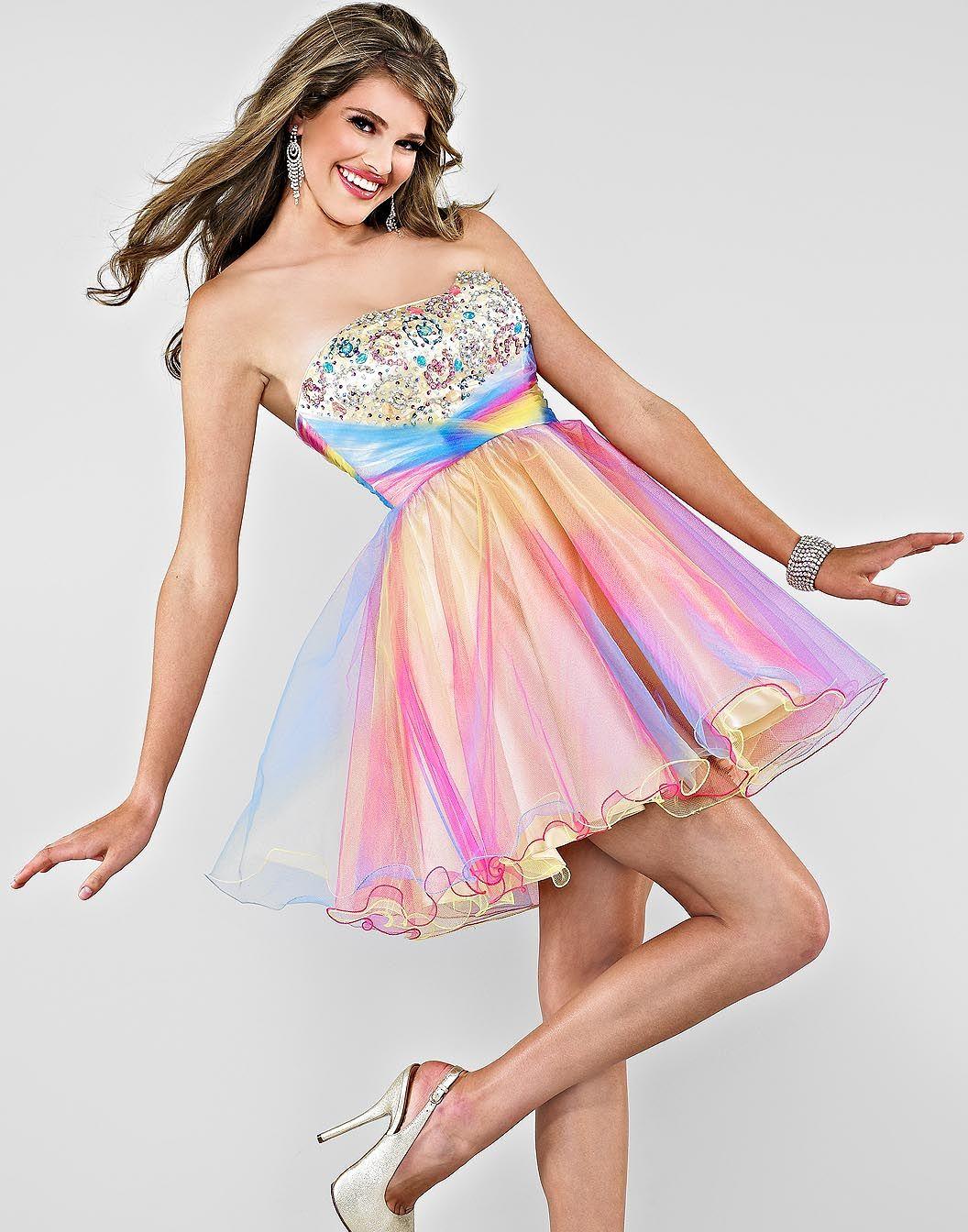 Imagesforfree Org Rainbow Prom Dress Prom Dresses Short Short Strapless Prom Dresses [ 1344 x 1056 Pixel ]