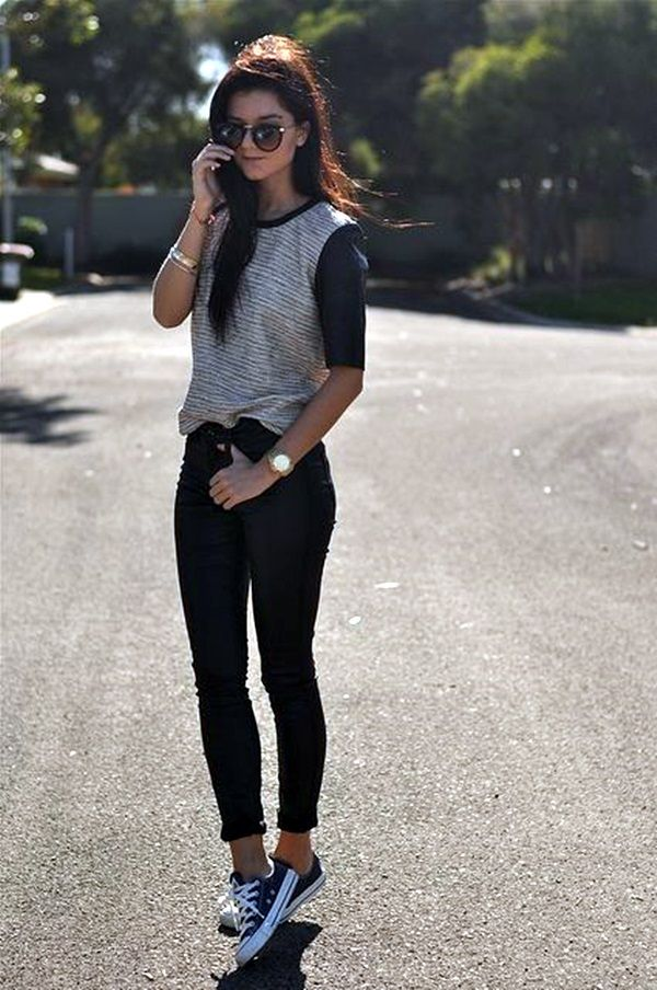 1bef9f0b733 101 Chic College Girl Fashion Outfits to be appealing