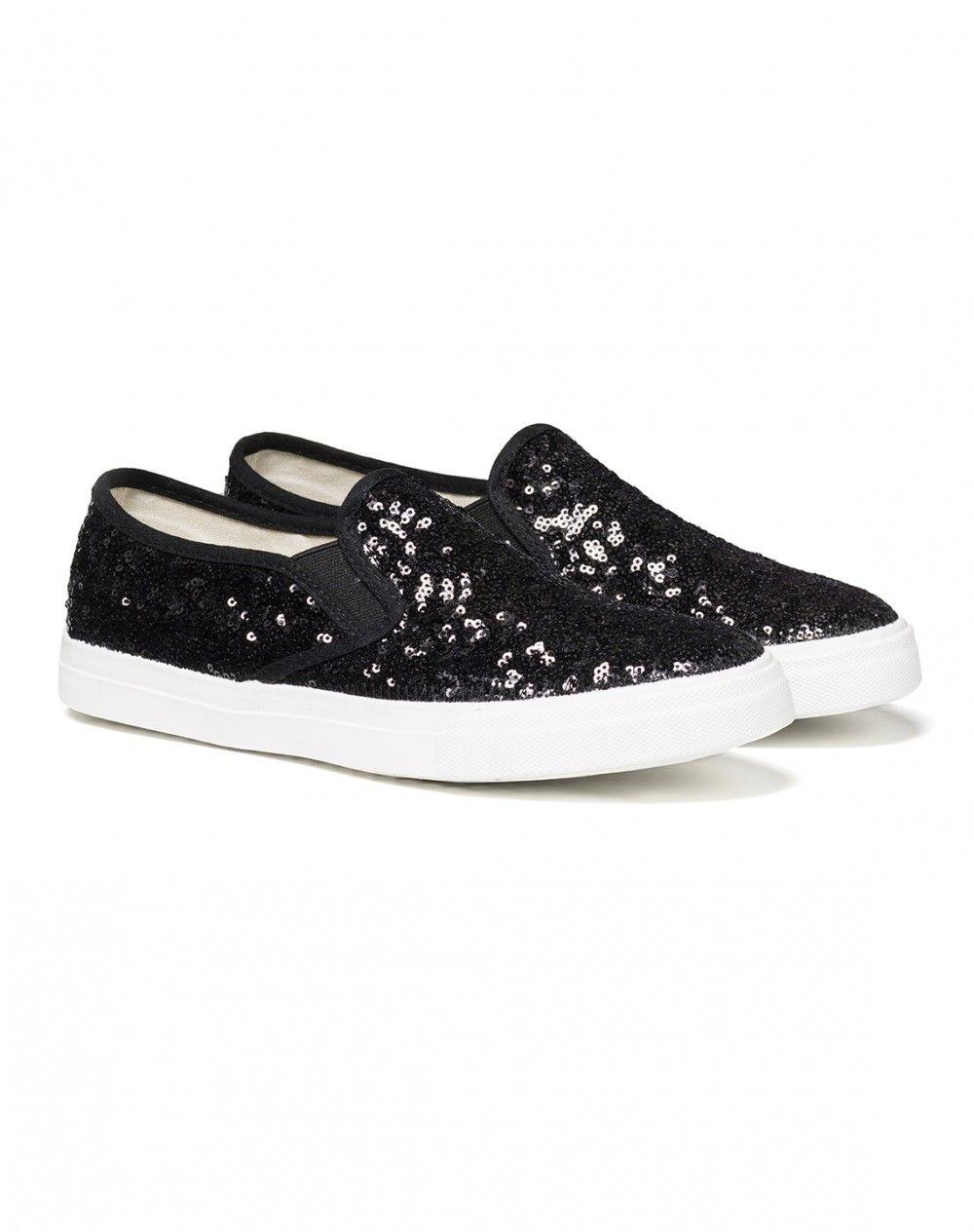 Sneakers de cunha glitter - CALÇADOS - MULHER