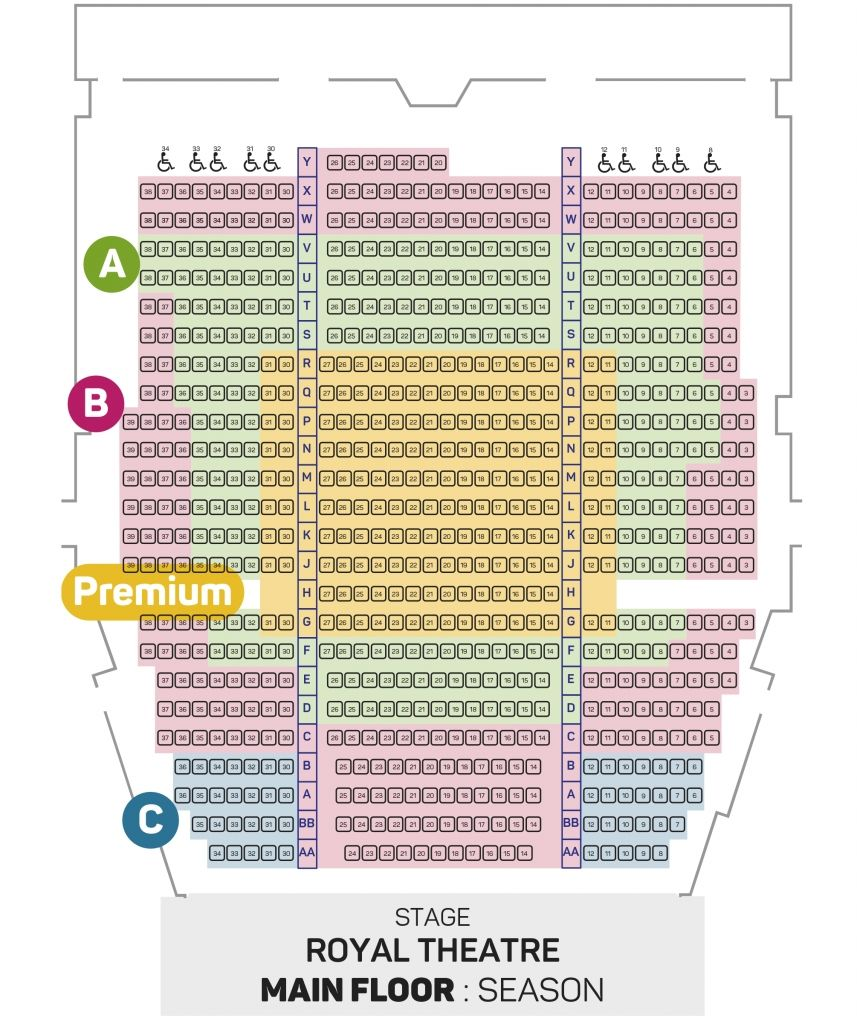The Brilliant Chicago Theater Seating Chart Main Floor Di 2020