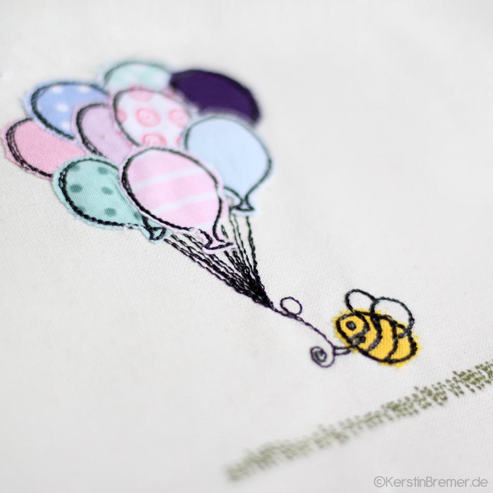 Biene Luftballons Doodle Stickdatei | Pinterest