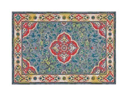 A similar exotic motif in worry-free polypropylene. Feizy Gustavia Capri 5' x 8' rug, $349, houzz.com